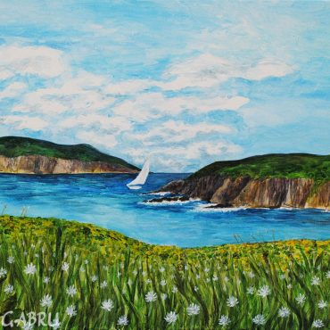 shamrock gallery acryl acryllic painting art irish artist sea cliffs