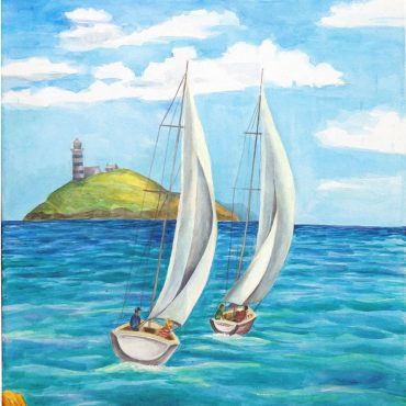 acryl painting art acryllic on canvas ireland irish artist sea ships sailing